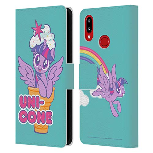 Head Case Designs Officially Licensed My Little Pony Twilight Sparkle Candy Clash Leather Book Wallet Case Cover Compatible with Samsung Galaxy A10s (2019)