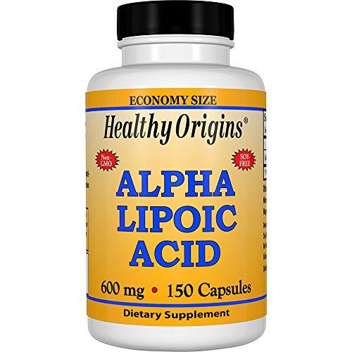 Healthy Origins, Alpha Lipoic Acid (Alpha-Liponsäure), 600mg, 150 Kapseln