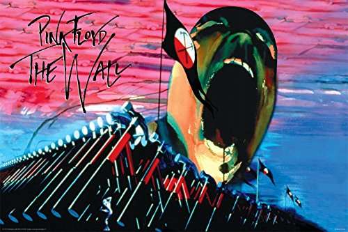 NMR Laminated Pink Floyd- The Wall Hammers & Scream Music Poster 24x36 inch