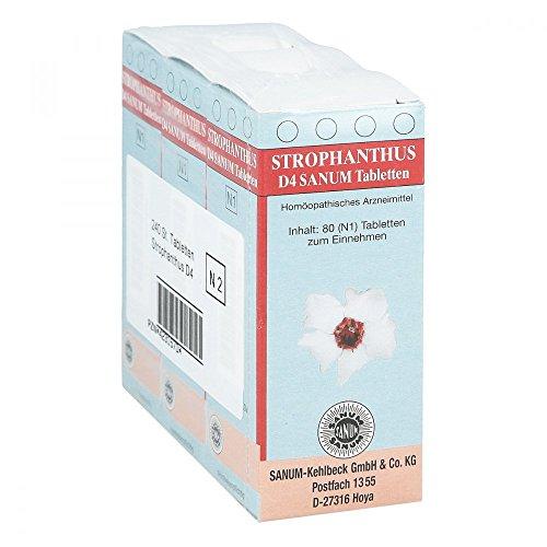 STROPHANTHUS D 4 Sanum Tabletten 3X80 St