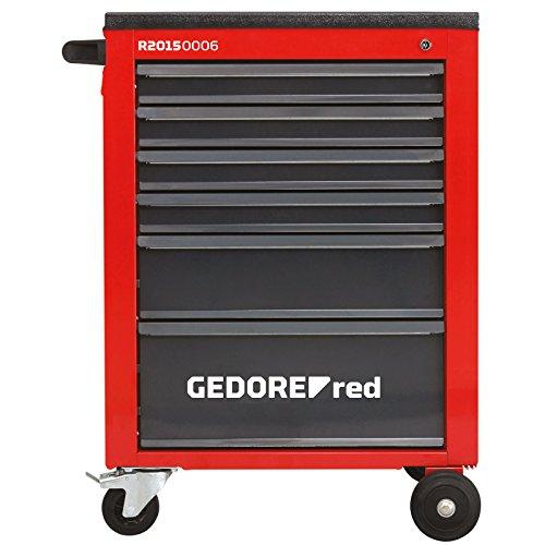 GEDORE red Werkstattwagen MECHANIC mit 6 Schubladen, Kunststoffablage und Lenkrollen