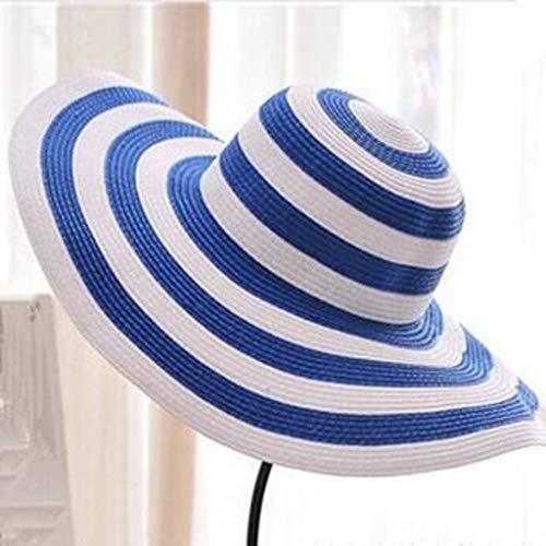 YDHWY Sombrero de Las Mujeres de Verano Ventilación Plegable Sombrillas de Sol Sombrero de Playa Cuerda de Viento Sombrero de Ajuste Fijo Sombrero de protección Solar (Color : C)