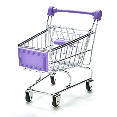 Mini carrito de la compra para la compra o la decoración del escritorio, soporte para teléfono de bebé, color verde