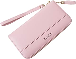 Sueway Women Wallet Tassel Bifold Ladies Clutch Large Capacity Cards Organizer Wristlet Wallet