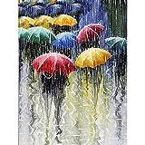 Lazodaer Kit de pintura de diamante para adultos, niños, decoración de oficina, casa, regalos para ella, él y el paraguas, 30 x 39,9 cm