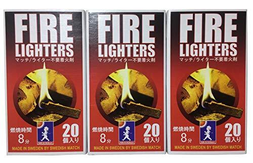 【ヒルナンデス!で紹介】FIRELIGHTERS『ファイヤーライターズ』たけだバーベキューさんご愛用!マッチ型着火剤火起こしファイヤースターターセット焚き火キャンプアウトドア炭薪ストーブ便利グッズライター不要燃焼継続20本入り3箱セット