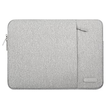 MOSISO Tablet Sleeve Case Compatible with iPad Pro 11 inch  3rd Gen  M1 5G 2021-2018 2020 10.9 iPad Air 4 10.2 iPad 8th/7th Gen 10.5 iPad Air 3 iPad 9.7 Polyester Vertical Pocket Bag Gray