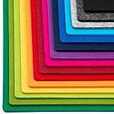 FILU Platzsets aus Filz 4er-Pack Dunkelgrau eckig (Farbe und Form wählbar) 30 x 41 cm – Tischset für drinnen und draußen, abwaschbar und pflegeleicht, Deko für Esstisch im Wohnzimmer, Gartentisch/Balkontisch - 5