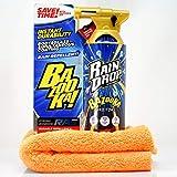 detailmate Set di sigillatura: Soft99 Rain Drop Bazooka, 300 ml – Sigillante spray per vernice, fari, superficie in vetro, pneumatici, cromo, plastica (esterno), cerchioni + panno in microfibra 550GSM