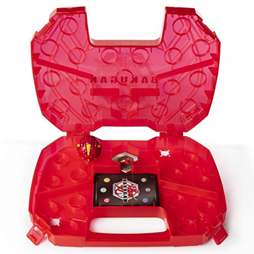 Bakugan Baku-storage Case for Bakugan Collectible Action Figures, with extra Bakugan Basic Ball (Dragonoid (Red)), for Ages 6 and Up