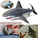 Giocattolo a Forma di squalo Realistico Simulazione di Realistico Modello Animale per Bambini Bambini, Regalo Bambola per Neonati e Bambine