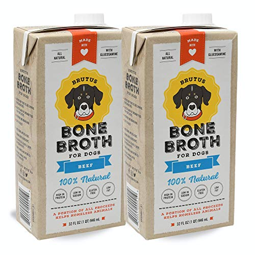 Brutus Bone Broth for Dogs | Beef 2-Pack (64 oz)...