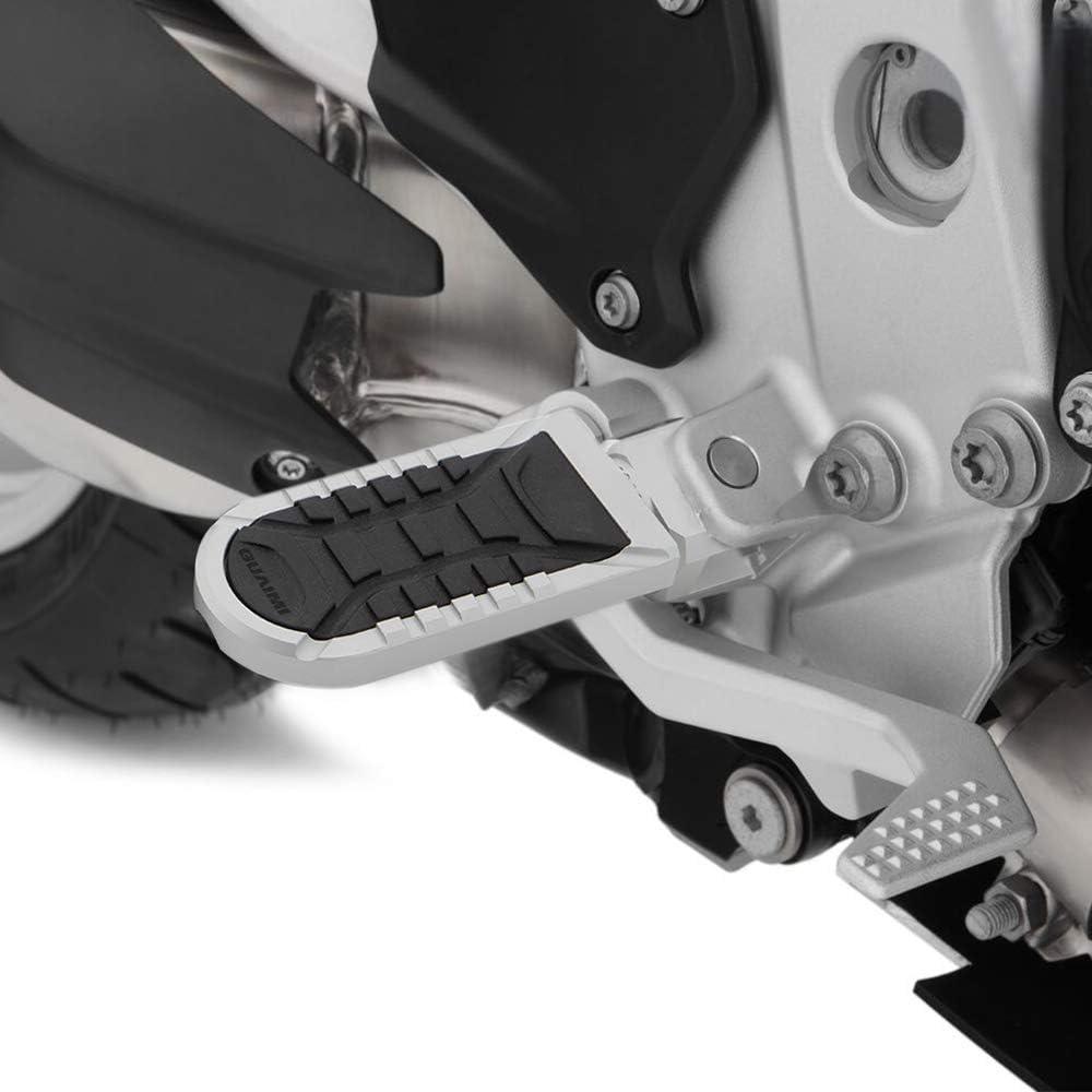 GUAIMI Reposapies Moto,Delantero Estriberas Motocicleta Ajustable Reposapi/és para B-M-W F650GS F700GS F750GS F800GS//ADV F850GS//ADV R1100//1150GS R1200GS R1200GS LC//ADV R1250GS//ADV R850GSc Negro