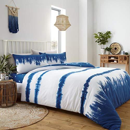 CT Tie Dye Pattern Blue Luxurious Duvet Cover Sets Quilt Cover Sets Reversible Bedding Sets (King Size)