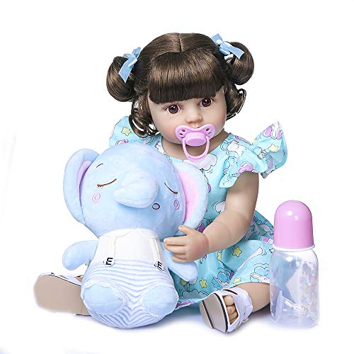 Anano Life Like Reborn Toddler Girls Doll Big Baby Full Body Silicone Newborn Dolls Xmas Gifts for Kids Above 3 Years Old