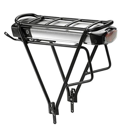 SEASON E-Bike Akku Lithium-Ionen 36V 12.5Ah mit Ladegerät und Gepäckträger, Wiederaufladbarer Energie für Elektrofahrrad Pedelec