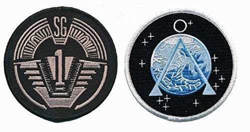 Miltacusa Stargate SG-1 Uniform/Costume 3.0 X 3.0 inch Hook Patch (Bundle 2pc)