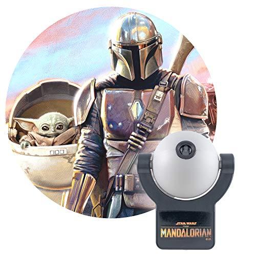 Projectables Mandalorian LED Night Light, Star Wars, Plug-in, Dusk to Dawn, UL-Listed,Ideal for Bedroom, Nursery, Bathroom, 53215
