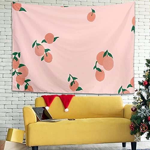 WellWellWell Tapiz multicolor con dibujos animados de playa y frutas, para cama de color blanco, 200 x 150 cm