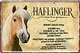 """Blechschild Pferde Spruch & Motiv """"Haflinger"""" Deko"""