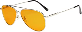 Eyekepper Blue Blocking Glasses for Sleep-Nighttime Eyewear-Special Orange Tinted Memory Frame Glasses for Women