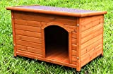 HiCaptain Waterproof Solid Cedar Pet House Deluxe Dog Kennel Universal Fits for Small Medium Large Animals (Medium, Brown)