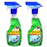 Auto Expert Crystal Clear Glass Cleaner Spray for Vehicles Dirt/Road-Grime/Car Windows Easy Cleaning 350ML (Pack of 2)