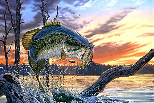 Jigsaw Puzzle For Adults 300 Pieces, Large Fish Floor Puzzle Intellectual Game, 1500/1000/500/300 Pieces