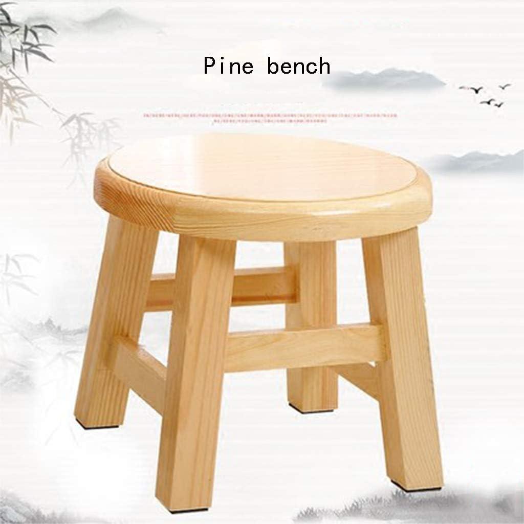 Bycws Tabouret en Bois, Petit Tabouret en Bois Massif De Ménage Chaises Et Chaises pour Enfants Tabouret en Bambou Naturel pour Enfants Surface Lisse,B B