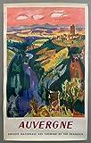 Auvergne Poster, Reproduktion, Format 50 x 70 cm,