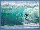 Decoration Poster Reproduction.Inspirational Quote.Inaction.Surfing Wave