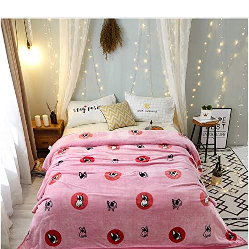 misshxh flanel deken, huisdier hond ontwerp super zacht en comfortabel lakens, geschikt voor office dutje bank bed deken