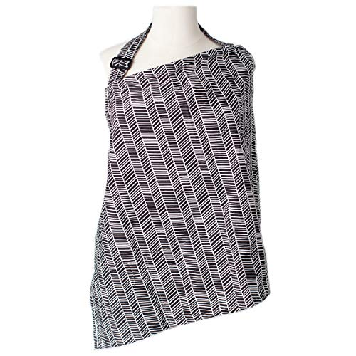 Nursing Cover with Sewn In Burp Cloth for Breastfeeding Infants   FREE Matching Pouch- Best Apron Cover Up for Breast Feeding Babies   Covers Up Newborns in Public   Patented NAPPA Winner- Herringbone