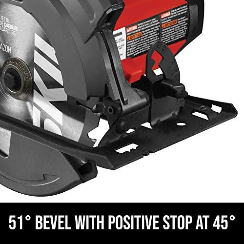 SKIL 5280-01 Circular Saw with Single Beam Laser Guide, 15 Amp/7-1/4
