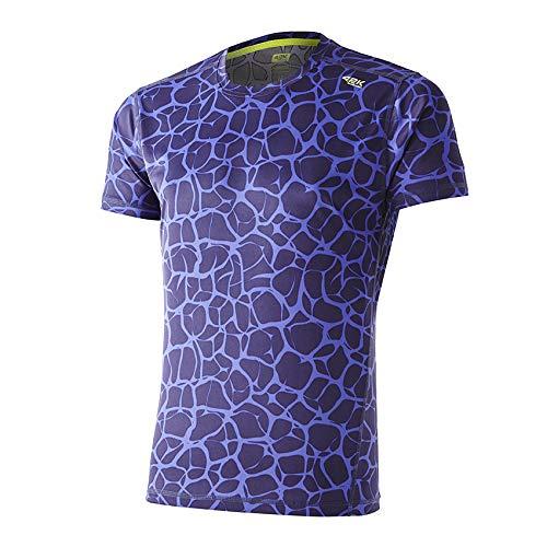 42K RUNNING - Camiseta técnica 42k Aquarius Manga Corta Ultramarine - Neuronal