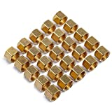 LTWFITTING 3/8-Inch Brass Compression Nut,Brass Compression Fitting(Pack of 25)...