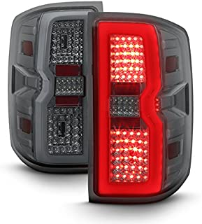 For 2014-2018 2019 Chevy Silverado   GMC Sierra LED Light Bar Tail Lights Lamps - Smoke Pair