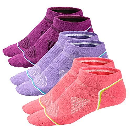 Ueither Herren & Damen Low-Cut Sportsocken Kurze Sneakersocken Laufsocken atmungsaktiv für Fitness, Tennis, Joggen, Laufen, Alltag