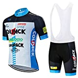 QPROX Ropa Ciclismo Verano Hombre Corta Maillot MTB y Pantalones Cortos Secado Rápido Conjunto para al Aire Libre Bicicleta Montaña Ropa Hombre