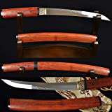 PJXC Japanese Samurai SHIRASAYA Sword Tanto Clay Tempered SHINOGI-ZUKURI Blade