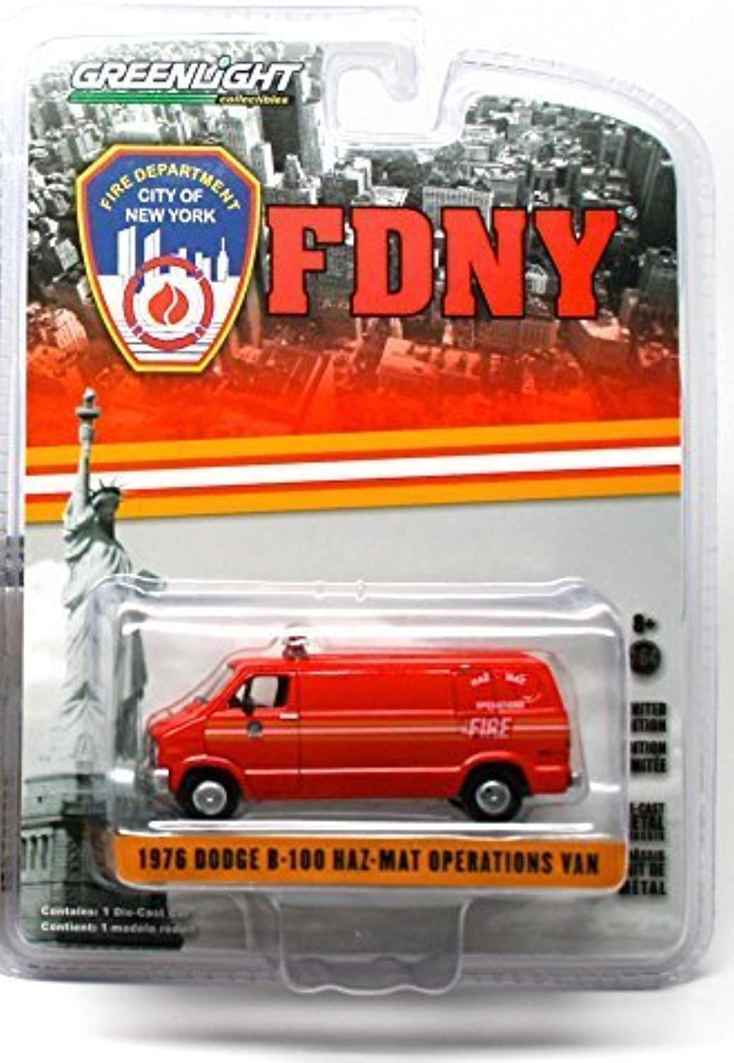 1976 DODGE B100 HAZMAT OPERATIONS VAN  2015 Greenlight Collectibles City of New York Fire Department 1 64 Scale Limited Edition DieCast Vehicle by Greenlight Collectibles