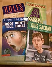 Set of 4 Louis Sachar Books (Wayside School Get a Little Stranger, The Boy Who Lost His Face, Dogs Don't Tell Jokes, Holes)