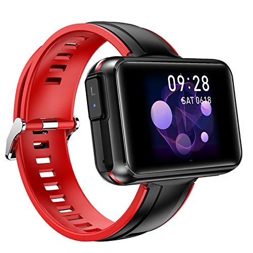 Kaxofang T91 Pulsera Inteligente Reloj Inteligente Color Sn Auriculares Inalámbricos 5.0 Presión Arterial de Frecuencia Cardíaca 2 en 1 Rojo
