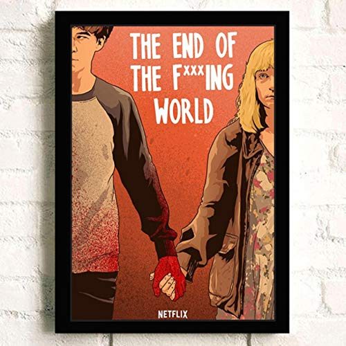 lubenwei The End of The F *** ing World Movie HD Star Wall Art Home Decor Canvas Painting Art Nordic Decoration Room Poster 40x50cm Nessuna Cornice (WA-507)