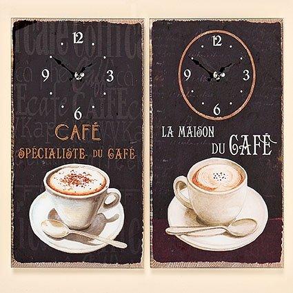 Tamia-Home Wanduhr Coffee Küchenuhr Glasuhr Wanddekoration Uhr Bilderuhr Glasbilder (Cafe specialiste du Cafe)