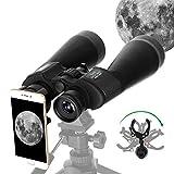 ESSLNB Prismaticos 15X70 Prismaticos Astronomia con Adaptador de Telefono Trípode y Bolso para Terrestre Visita Caza Turismo