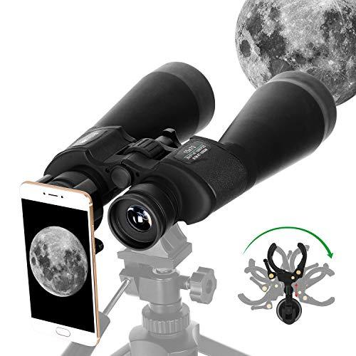 ESSLNB Gigante Binocolo Astronomico 15X70mm Binocolo Astronomico Professionale per Birdwatching con Adattatore Telefonico Adattatore per Treppiede FMC Prisma per Guardare le Stelle Visione Terrestre