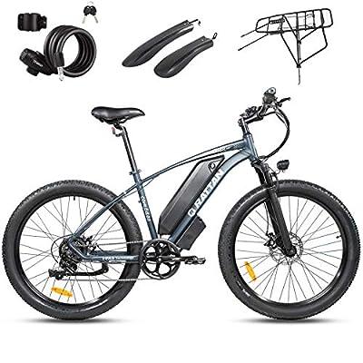 Rattan Electric Bike 500W 48V 27.5Inch Fat Tire Electric Bike 25MPH High Speed Bike Snow/Mountain Off-Road Electric Bikes 13AH Power E-Bike Shimano 7 Speed Shifter Electric Bicycle (Compass Gray)