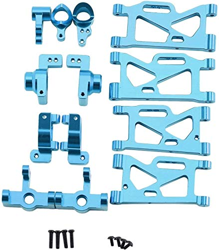 Larga vida Neumáticos Copa de dirección del coche de RC parte posterior del frente de brazo giratorio for 1/14 WLtoys 144001 RC coche de actualización de piezas de repuesto Accesorios-Blue Alta precis
