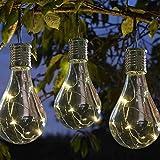 6 attraktive Solar-Glühbirnen 'Heureka', weiße LED-Leuchten, ideal für Pavillons